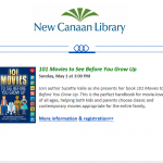 Invitation to Meet Author Suzette Valle at New Canaan Library