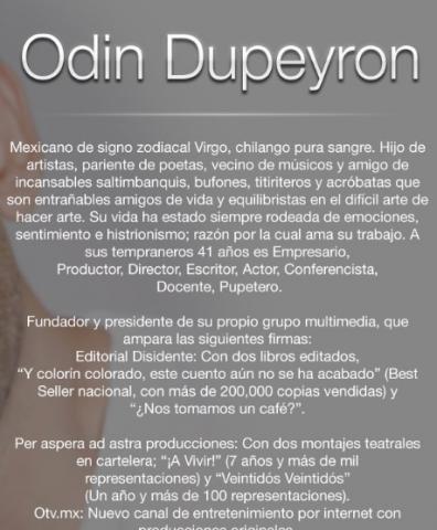 Odin Dupeyron Biografia