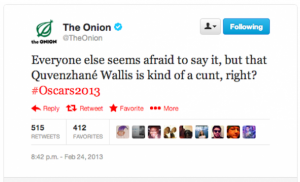 Oscars Onion Tweet