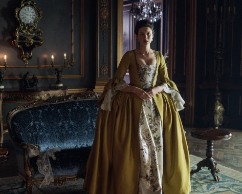 Outlander Season 2 - Claire in Paris living among King Louis XV's court.
