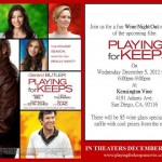 Playing for Keeps and Film District Invite to Wine Night.
