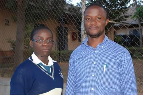The real Phiona Mutesi and coach Katende