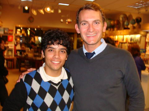 The Princeton Review's Rob Franek with Alex Valle in 2009 at Warwick's Book Store in La Jolla, CA.