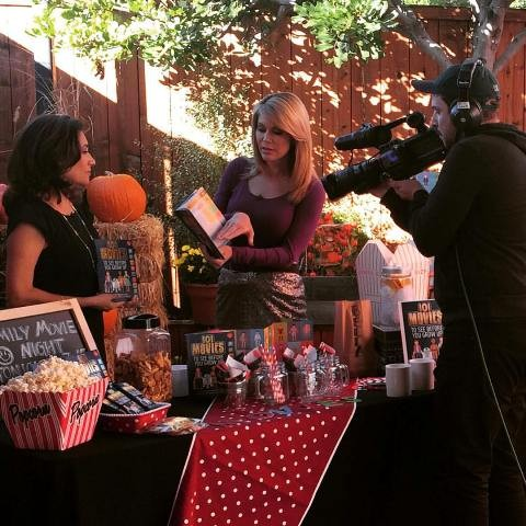"""Suzette Valle with Heather Myers on the CW6 in San Diego presents her book """"101 Movies to See Before You Grow Up."""""""