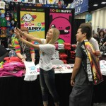SDCC15 iJustine Taking a Selfie with a Fan