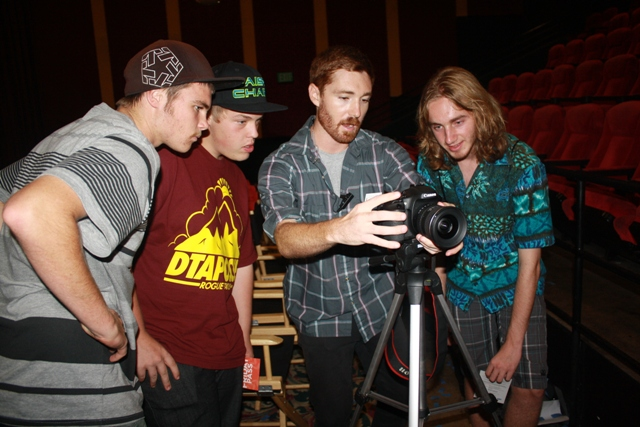 Jared Callahan instructs students on the art of film making at the San Diego Film Festival 2012.