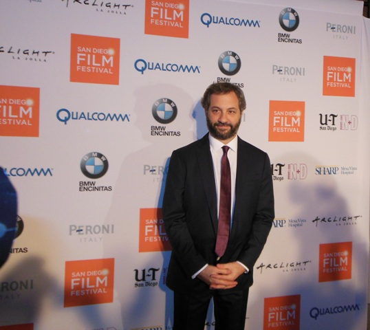 Judd Apatow arrives at the SDFF red carpet. Photo S. Valle