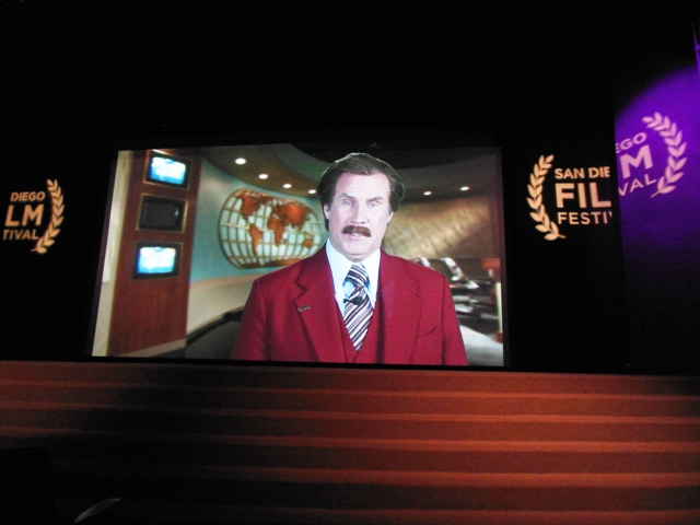 Will Ferrel aka Ron Burgundy congratulated Apatow on his award at the SDFF