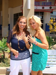 "Suzette Valle and Katie Cazorla of TV Guide Network's reality show ""Nail Files."" Photo S. Valle"