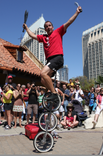 Buskers Festival or Street Performers at Seaport Village. Photo courtesy of Seaport Village