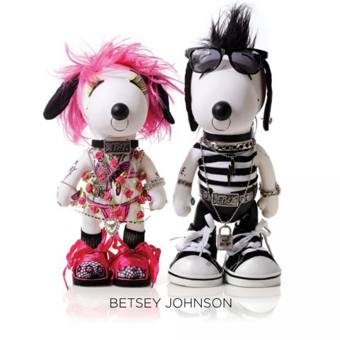 Snoopy and Belle in Betsy Johnson