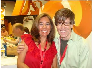 Steven Banks, Head Writer for Nickelodeon's SpongeBob Squarepants, and Suzette Valle. 2009