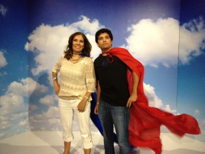 Supermom and Superson at the Samsung Galaxy Experince Comic-Con 2013