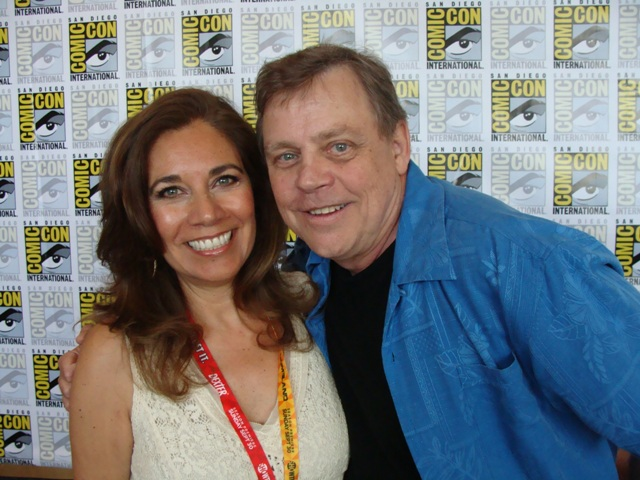 Suzette Valle  Mark Hamill of Star Wars at Comic-Con 2013
