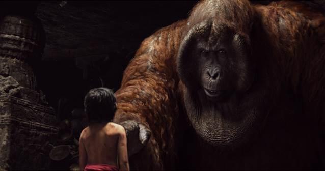 Mowgli and King Loui in The Jungle Book