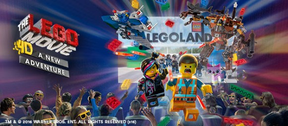 """The Lego Movie 4D"" opens at LEGOLAND California February 6, 2016. Photo courtesy of LEGOLAND."