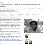 Trayvon Martin's Death - A Teachable Moment?