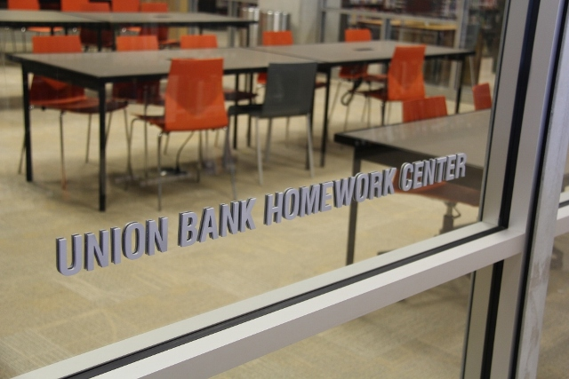 Union Bank pledged $300,000 for the new Homework Center.