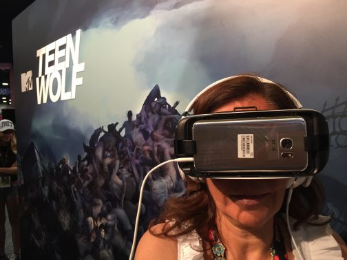 Teen Wolf VR Experience at MTV Booth at Comic-Con