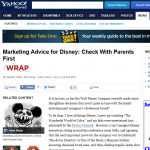 Yahoo Disney Marketing