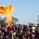 Fire-eater performing at the Seaport Village Spring Busker Festival. Photo courtesy of i.d.e.a. Brand PR