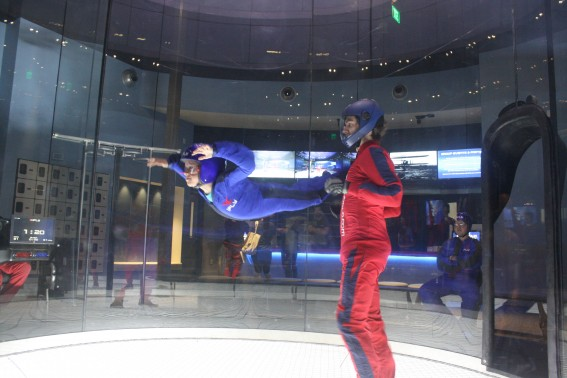 Here he is...flying! iFLY San Diego