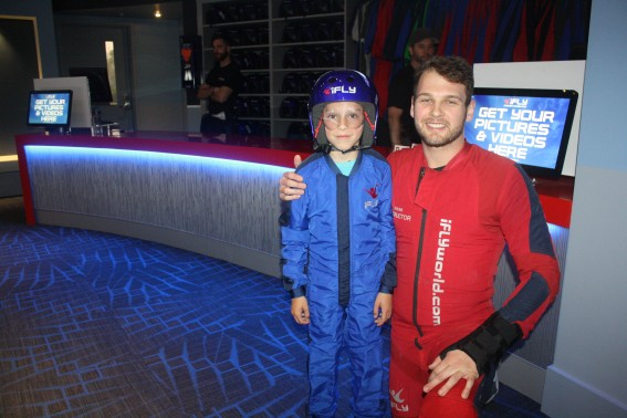 A 10-year-old was waiting in the wings to have his turn at iFLY