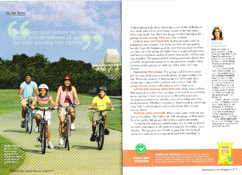 Valle Family Featured in Parenting Magazine Insert