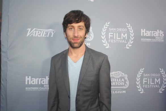 The Big Band Theory actor Simon Helberg at San Diego Film Festival. Photo S. Valle